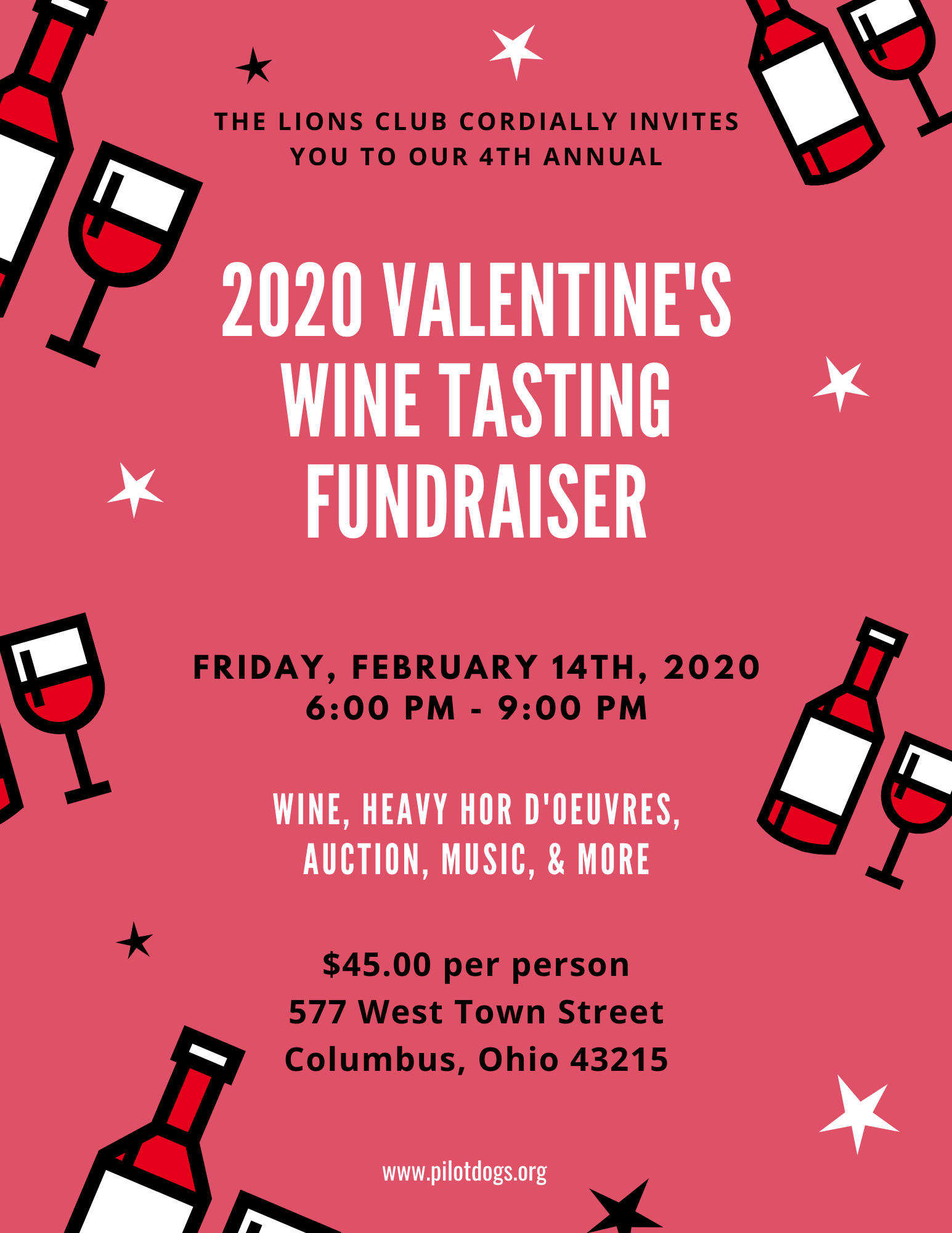 2020 Valentine's Wine & Beer Tasting fundraiser